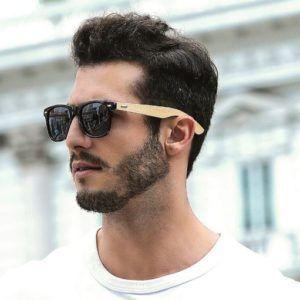 Bambú Sol Gafas Hombre De Vintage N8wmn0v